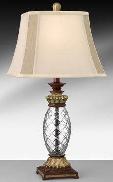 Bronze and glass lamp