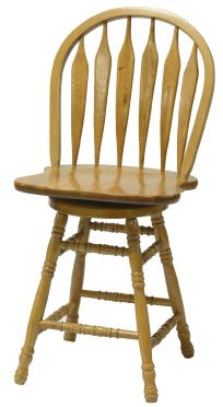 Colonial Windsor Bowback Barstool