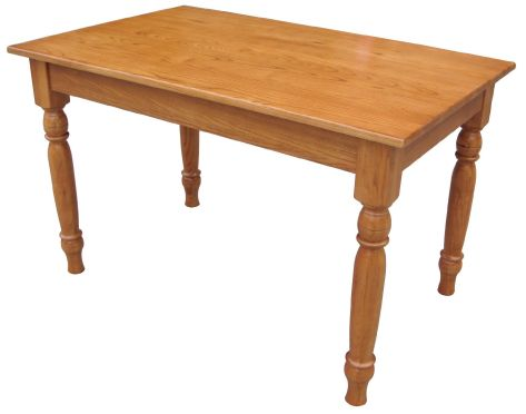 Solid Oak Leg Table