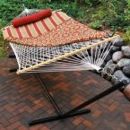 Cotton Rope Hammock and Stand