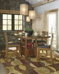 Ralene Counter Height Extension Table and Four Barstools