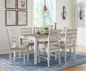 Skempton Dining Table and Six Upholstered Chairs